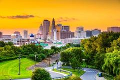 Hartford, horizonte de Connecitcut Fotografía de archivo libre de regalías