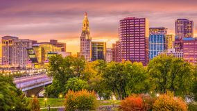 Hartford, le Connecticut, Etats-Unis photo libre de droits