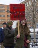 Hartford mujeres ` s marzo de 2018 fotos de archivo libres de regalías