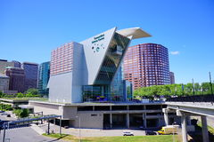 Hartford Science center. Building and downtown Royalty Free Stock Photography