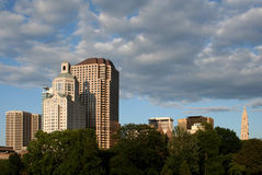 Hartford Skyline. Hartford, CT Skyline from Bushnell Park Royalty Free Stock Image