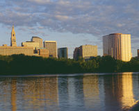 Hartford Skyline  at  Sunrise Royalty Free Stock Images