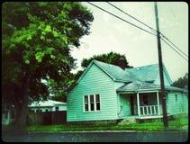 Hartford stad Indiana Retro Residential fotografering för bildbyråer