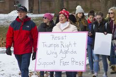 Hartford Women`s March 2018. The Women`s March in Hartford, CT. that was held on January 20, 2018. Women and men from across Connecticut came together to speak Royalty Free Stock Photo