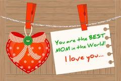 Hartgroet voor Beste Mamma Stock Foto's