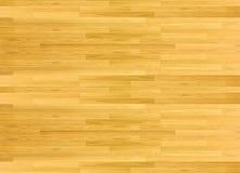 Hartholzahorn-Basketballplatzboden angesehen von oben Stockfoto