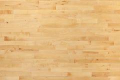 Hartholzbasketballplatzboden angesehen von oben Stockfotos