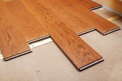 Hartholzbodenbelag Stockbilder