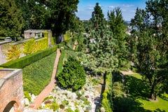 The Hartigs Garden Hartigovská zahrada in the area of Prague Castle in summer royalty free stock photography