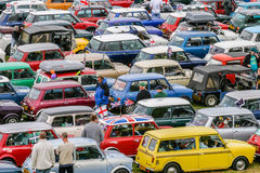 HARTLAND, DEVON, UK - August 1st 2010: Mini owners club rally br. Ought together hundreds of the iconic min-car Stock Images