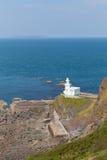 Hartland Point Lighthouse Devon England stock photos