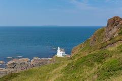 Hartland Point Lighthouse Devon England stock image