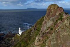 Hartland Point Lighthouse, Devon, England stock photos