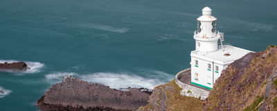 Hartland Point Lighthouse Royalty Free Stock Photos