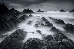 Hartland Point Long Exposure Royalty Free Stock Images
