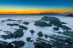 Hartland Quay after sunset royalty free stock photography
