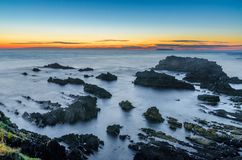 Hartland Quay after sunset royalty free stock photo