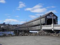 Hartland täckte bron New Brunswick Kanada fotografering för bildbyråer