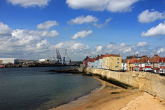 Hartlepool headland. The ancient headland and dock area of Hartlepool, Cleveland, UK Royalty Free Stock Image