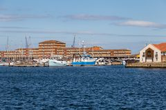 Hartlepool Marina, UK. Hartlepool, England, UK, May 14, 2016: View towards the Hartlepool Marina royalty free stock photo
