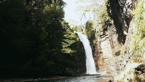 Hartnett Falls. On the Overland Track in Tasmania stock video