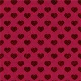 Hartpatroon - het naadloze valentijnskaart verpakken Stock Afbeelding