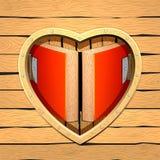 Hartruimte Samenvatting van hart De kaart van het huwelijk Stock Fotografie