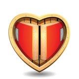 Hartruimte Samenvatting van hart De kaart van het huwelijk Stock Afbeelding