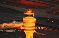 Hartsfield Control. Atlanta& x27;s busiest airport control tower Stock Photography