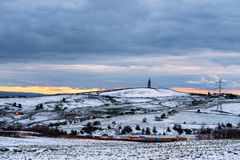 Hartshead Pike – Manchester England UK royalty free stock photos