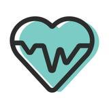 Hartslag Cardioecg of ekg Stock Afbeeldingen