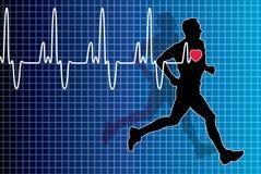 Hartslag en lopende mens stock illustratie