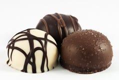 Hartstocht in de chocolade royalty-vrije stock foto's