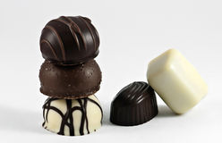 Hartstocht in de chocolade stock fotografie
