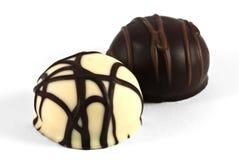 Hartstocht in de chocolade royalty-vrije stock fotografie