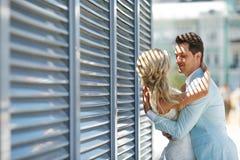 Hartstocht en liefde van mensen Stock Foto