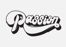 Hartstocht Het vector met de hand geschreven van letters voorzien gemaakt in de stijl van 90 ` s royalty-vrije illustratie