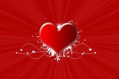 Hartstocht voor de Dag van de Valentijnskaart Stock Fotografie