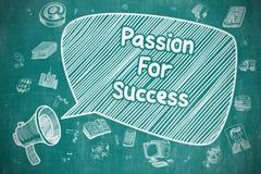 Hartstocht voor Succes - Bedrijfsconcept royalty-vrije illustratie