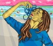 Hartstocht voor zeevruchten VERSUS Snoepjes vector illustratie