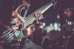 Hartstochtelijke Gitarist Music Royalty-vrije Stock Foto