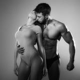 Hartstochtsvrouw en man Stock Foto