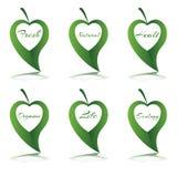 Hartsymbool met woord in groen blad Royalty-vrije Stock Fotografie