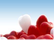 Hartvorm baloons Stock Foto's