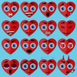 Hartvorm emoticon Stock Foto
