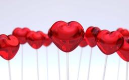 Hartvorm lollypops Royalty-vrije Stock Fotografie
