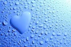 Hartvorm met waterdalingen Royalty-vrije Stock Foto