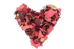 Hartvorm van bloemen wordt gemaakt die Royalty-vrije Stock Fotografie