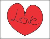 Hartvorm voor liefde vector illustratie