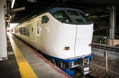 Haruka airport train. Haruka JR airport train on Track 30 at JR Kyoto Station. Kyoto, Japan Stock Images